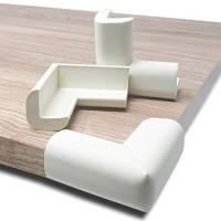 Housevag Paraspigoli Angolari per Sicurezza Bambini - Para Angoli in Gomma con Adesivi 3M, Set da 12 (Bianco)