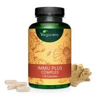 Difese Immunitarie Vegavero® | Completamente NATURALE | con Echinacea e Vitamina C | SENZA ADDITIVI | 120 capsule | Vegan