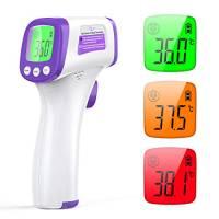 KKmier Termometro Frontale Senza Contatto, Termometro Febbre Infrarossi Medico per Neonati, Bambini