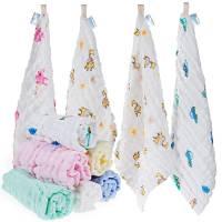 Lictin 10 Pezzi Asciugamani Bambini Mussola - Asciugamano Viso Infantile 100% Cotone Chiffon Fumetto 30 * 30 cm Baby Accessorio Fazzoletto per neonati