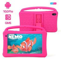Tablet per Bambini with WiFi Schermo IPS 7 Pollici Quad-Core Android 10.0 2 GB RAM 32 GB ROM Google Play Preinstallato GMS Certificato Giocattolo per Bambini Regalo per Bambini (Rosa)