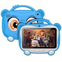 Tablet per Bambini 7 Pollici, Android 10.0 Certificazione GOOGLE GMS, 16 GB di Memoria, Supporto 128 GB Espandibile | WiFi 2.4 Ghz | Bluetooth 4.0 | Batteria da 3000 mAh | con Kid-Proof Custodia, Blu